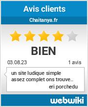 Avis clients de chaitanya.fr