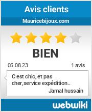 Avis clients de mauricebijoux.com