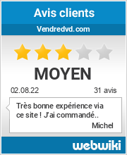 Avis clients de vendredvd.com