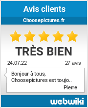 Avis clients de choosepictures.fr