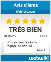 Avis clients de web1clic.com