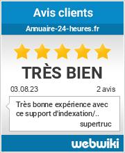 Avis clients de annuaire-24-heures.fr