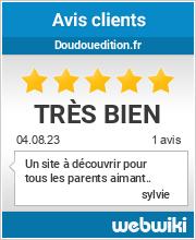 Avis clients de doudouedition.fr