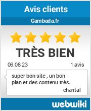 Avis clients de gambada.fr