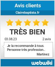 Avis clients de clairebaptista.fr