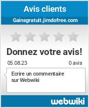 Avis clients de gainsgratuit.jimdofree.com