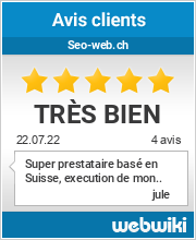 Avis clients de seo-web.ch