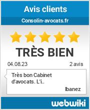 Avis clients de consolin-avocats.fr