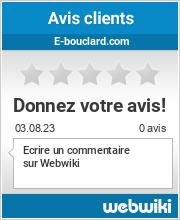 Avis clients de e-bouclard.com
