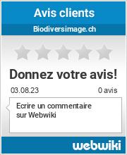 Avis clients de biodiversimage.ch